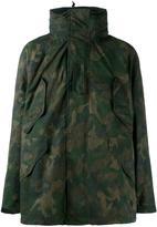Rag & Bone camouflage parka coat