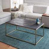 west elm Graphic Marble Inlay Coffee Table - Black
