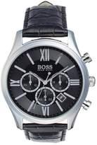 HUGO BOSS Men's Ambassador Croc Embossed Leather Watch