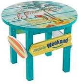 Margaritaville Outdoor Classic Wood Round Side Table in Blue