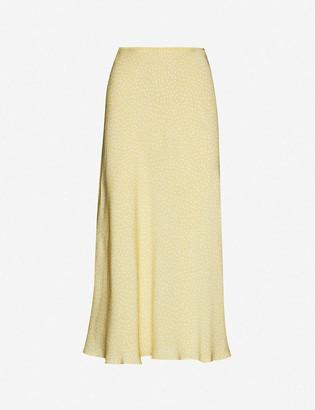 Samsoe & Samsoe Alsop polka-dot high-waist crepe midi skirt