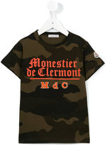 Moncler camouflage print T-shirt