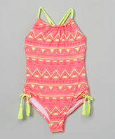 Jantzen Pink Electric Youth One-Piece - Girls