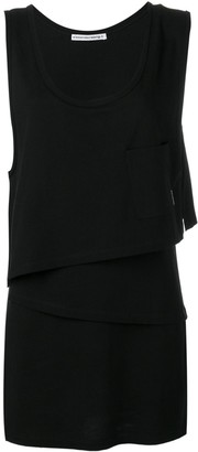 Alexander Wang asymmetric layered shirt dress