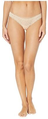 Eberjey Delirious Lace Low Rise Thong (Bare) Women's Underwear