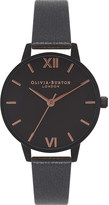 Olivia Burton OB16AD09 After Dark stainless steel and leather watch