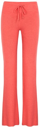 Wildfox Couture Tennis Club coral brushed-jersey sweatpants