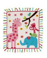 Artwalk Art Walk Kids' Jungle Mania Tassel Blanket