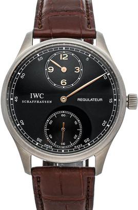 IWC Black Titanium Portuguese Regulateur IW5444-05 Men's Wristwatch 43 MM