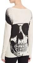 Aqua Cashmere Big Jack Sunglass Skull Cashmere Sweater