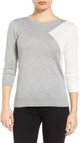 Halogen Cotton Blend Pullover (Petite)