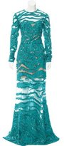 Elie Saab Sequined Evening Gown
