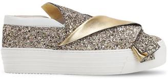 N°21 Glittered Slip-on Sneakers