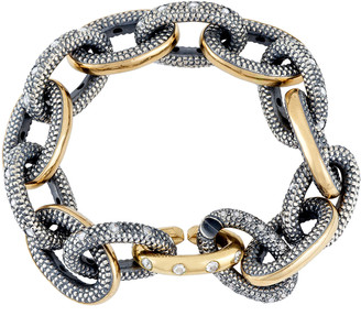 Moritz Glik 18K Gold, Blackened Silver And Diamond Bracelet