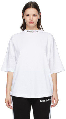 Palm Angels White Double Logo T-Shirt