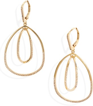Nordstrom Pave Inset Oval Orbital Earrings