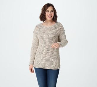 Denim & Co. Naturals Boatneck Long Sleeve Sweater