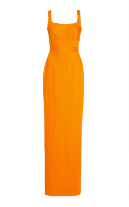 Brandon Maxwell Woven Sleeveless Gown