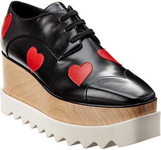 Stella McCartney Elyse Heart Cut-Out Platform Oxford