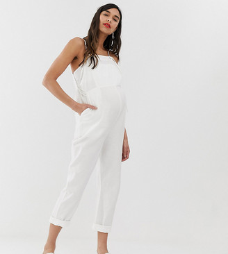 Asos DESIGN Maternity casual strappy dungaree