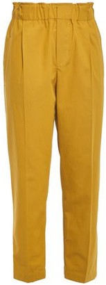 Brunello Cucinelli Pleated Cotton-poplin Tapered Pants