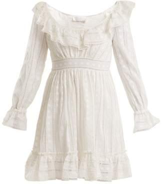 Zimmermann Melody Ladder Lace Dress - Womens - Ivory