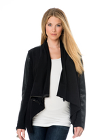 A Pea in the Pod Blank Nyc Zip Front Faux Leather Maternity Jacket