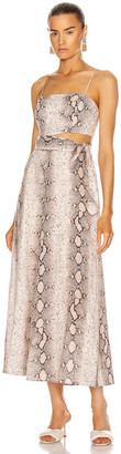 Zimmermann Bellitude Scarf Tie Dress in Snake | FWRD