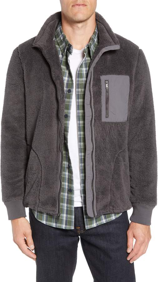 UGG Lucas High Pile Fleece Sweater Jacket
