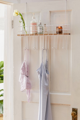 Urban Outfitters Devon Over-The-Door Multi-Hook Shelf