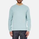 A.P.C. Men's Basique Long Sleeved Sweatshirt Bleu Clair