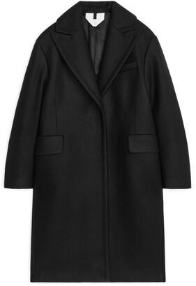 Arket Single-Button Wool Coat