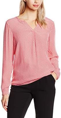 Bonita Women's Bluse, gemustert, 1/1, V-Neck Regular Fit Long Sleeve Blouse