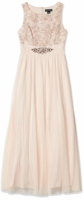 Jessica Howard JessicaHoward Women's Gown with Beaded Inset Waist