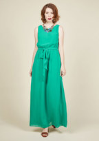 You're Flowing Places Maxi Dress in Jade in XS