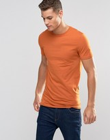 Asos Longline Muscle T-Shirt In Orange