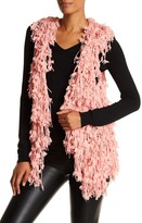 Insight Shaggy Fringe Open Front Vest