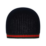 Gucci GUCCINavy Cashmere Baby Hat