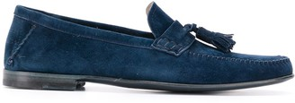 Fratelli Rossetti Tassel-Embellished Suede Loafers