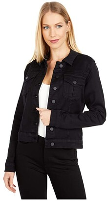 KUT from the Kloth Amelia Jean Jacket in Black (Black) Women's Clothing