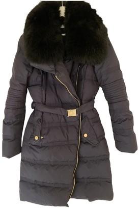 Versace Blue Fur Coat for Women