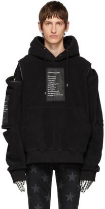TAKAHIROMIYASHITA TheSoloist. Black Fleece Shoulder Zip Hoodie