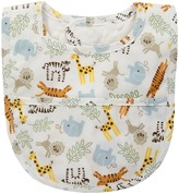 Mud Pie Go Wild Animal Laminated Bib Accessories Travel