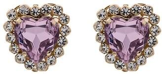 Anton Heunis Pink Heart Crystal Earrings