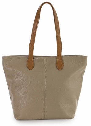 LiaTalia Womens Bag Leather Bag Medium Hobo Shoulder Bag Made with Italian Leather Stylish & Elegant Design - TIA [Medium Taupe]