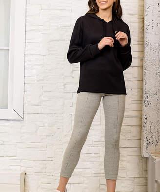 Alacati Women's Jumpsuits Black - Black Hoodie & Gray Leggings - Women