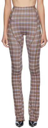 Charlotte Knowles SSENSE Exclusive Brown Truss Trousers