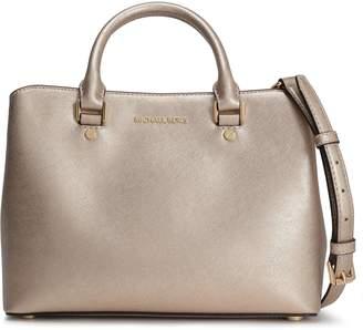 MICHAEL Michael Kors Metallic Textured-leather Shoulder Bag