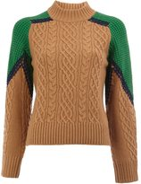 Sacai cable knit jumper