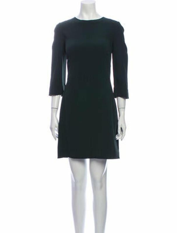 Dolce & Gabbana Crew Neck Mini Dress Green